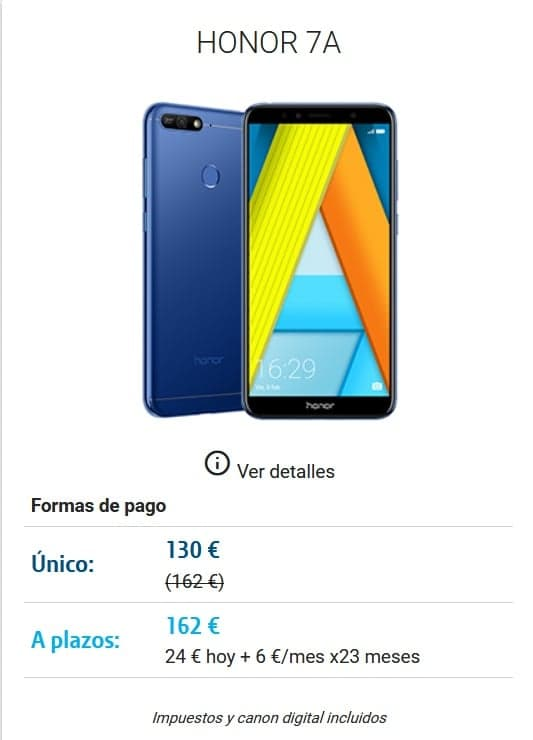 DIGI mobil Lorca Movil HONOR 7A