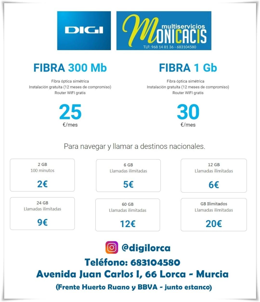 la mejor fibra en DigiMobilLorca